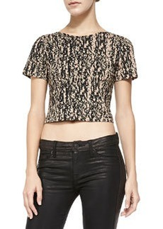 Theory Cash Cotton Cropped Top