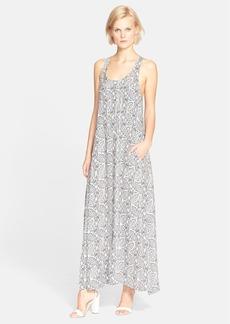 Theory 'Coruna B' Print Silk Maxi Dress