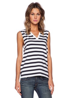 Theory Crelle Striped Tank