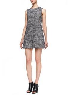 Theory Cushy Haddie Tweed Sleeveless Dress