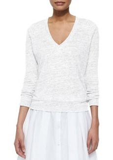 Theory Dalphon Melange Linen Sweater
