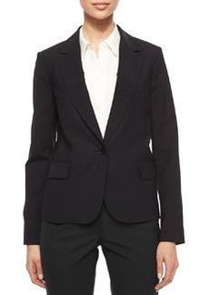 Theory Gabe Single-Button Crepe Blazer