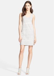 Theory 'Gallabrate' Heathered Stripe Cotton Tank Dress