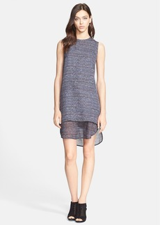 Theory 'Hassil' Tweed Print Silk Dress