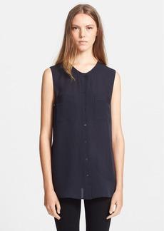 Theory 'Hetalla' Sleeveless Silk Shirt