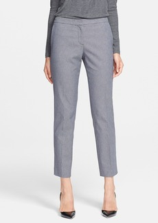 Theory Houndstooth Check Crop Cotton Blend Pants