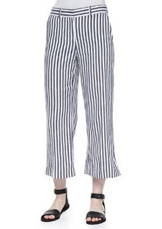 Theory Inza Striped Wide-Leg Pants
