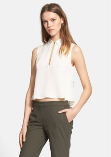 Theory 'Kenzly' Sleeveless Silk Top