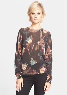 Theory 'Kidi' Floral Print Silk Sweater
