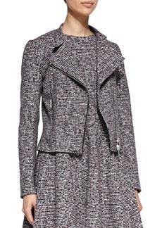 Theory Kinde Front-Zip Tweed Jacket