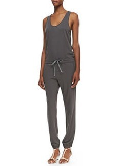Theory Koda Tank-Top Drawstring Jumpsuit