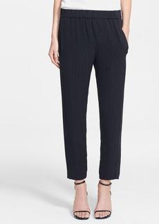 Theory 'Korene' Crop Silk Blend Trousers