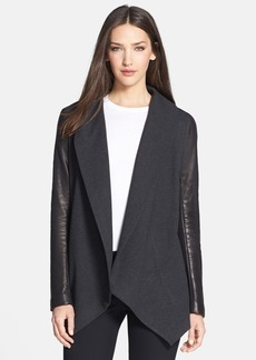 Theory 'Laura' Leather Sleeve Jacket