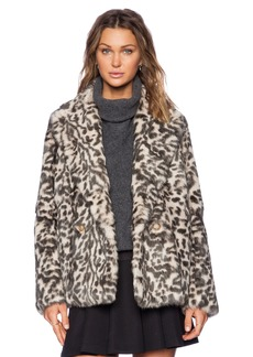 Theory Lianamar Sociable Rabbit Fur Jacket