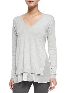 Theory Minrelle Cotton/Cashmere Loose Sweater