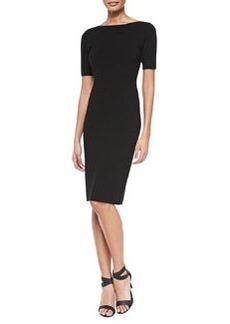 Theory Narlissa Prosecco Half-Sleeve Dress W/ Cutout Back