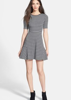 Theory 'Nikay' Houndstooth Woven A-Line Dress