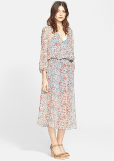 Joie 'Pasclina' Floral Print Silk Midi Dress