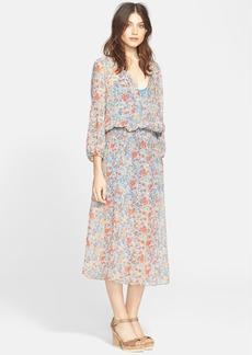 Joie 'Pasclina' Floral Print Silk Midi Dress