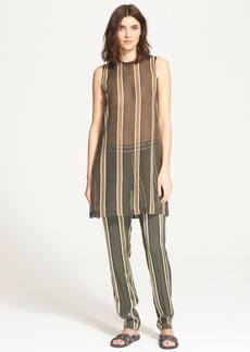 Theory 'Pinga' Stripe Silk Tunic