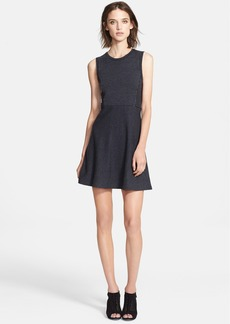 Theory 'Randria' Stripe Wool Blend Fit & Flare Dress