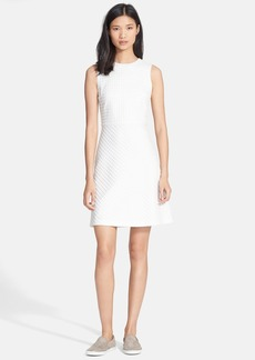 Theory 'Raneid K' Textured Fit & Flare Dress