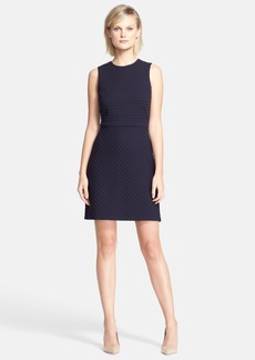 Theory 'Raneid K' Textured Fit & Flare Dress