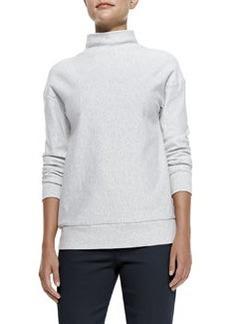 Theory Renika Mock-Neck Knit Sweatshirt