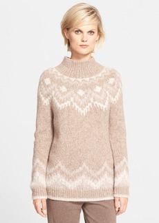 Theory 'Roblynda' Fair Isle Alpaca Blend Mock Neck Sweater