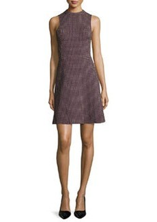 Theory Seraon Palmetto-Knit Sleeveless Dress, Navy/Red
