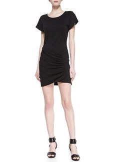 Theory Sunly Jersey Wrapped T-Shirt Dress