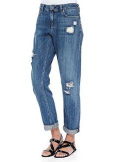 Theory Tatiyana Destroyed Straight-Leg Jeans