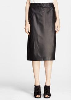 Theory 'Teeka' Leather Pencil Skirt