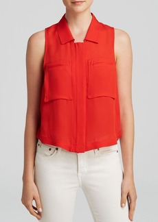 Theory Top - Gemia Double Georgette Silk