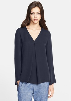 Theory 'Trent' Pleated Silk Top