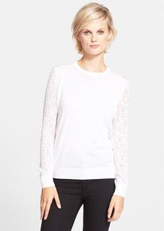 Theory 'Vessra' Burnout Crewneck Sweater