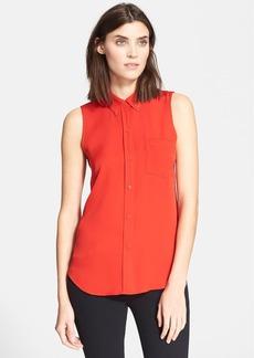 Theory 'Yarnie' Sleeveless Silk Georgette Shirt