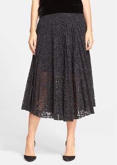 Theory 'Zeyn' Pleated Lace Midi Skirt