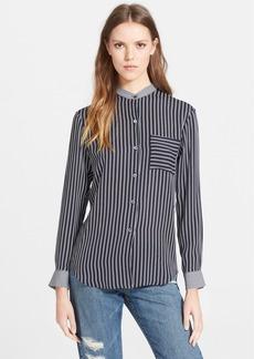 Theory 'Ziria' Stripe Silk Shirt