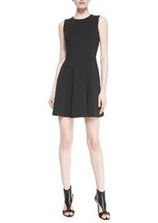 Tillora Techno-Jersey Sleeveless Flared Dress   Tillora Techno-Jersey Sleeveless Flared Dress