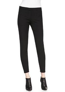 Venlynn Zipper-Cuff Twill Pants   Venlynn Zipper-Cuff Twill Pants