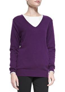 Wynn Cashmere V-Neck Sweater   Wynn Cashmere V-Neck Sweater