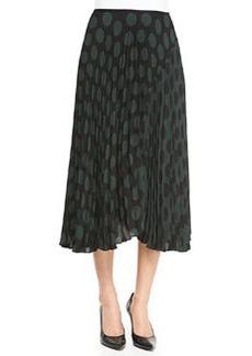 Zeyn Pleated Dotted Chiffon Skirt   Zeyn Pleated Dotted Chiffon Skirt