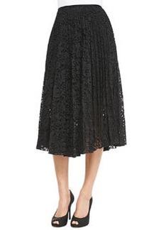 Zeyn Pleated Lace A-Line Skirt   Zeyn Pleated Lace A-Line Skirt