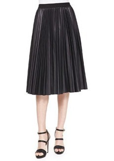 Zeyn Pleated Leather Skirt   Zeyn Pleated Leather Skirt