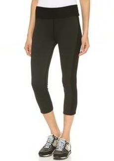 Three Dots Active Contrast Cropped Leggings