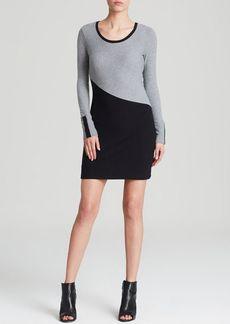 Three Dots Asymmetric Color Block Dress