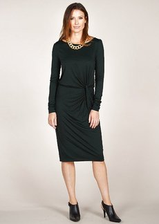 Three Dots Boatneck L/S Knot Dress