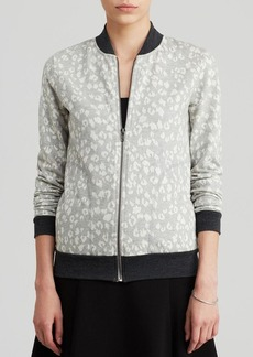 Three Dots Cheetah Print Bomber Jacket