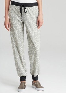 Three Dots Cheetah Print Sweatpants